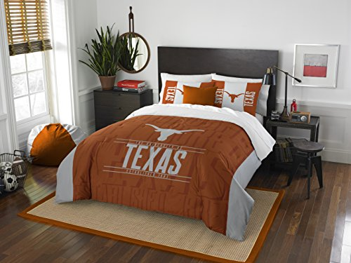 y Officially Licensed NCAA Texas Longhorns Modern Take Full/Queen Comforter and 2 Sham Set ()