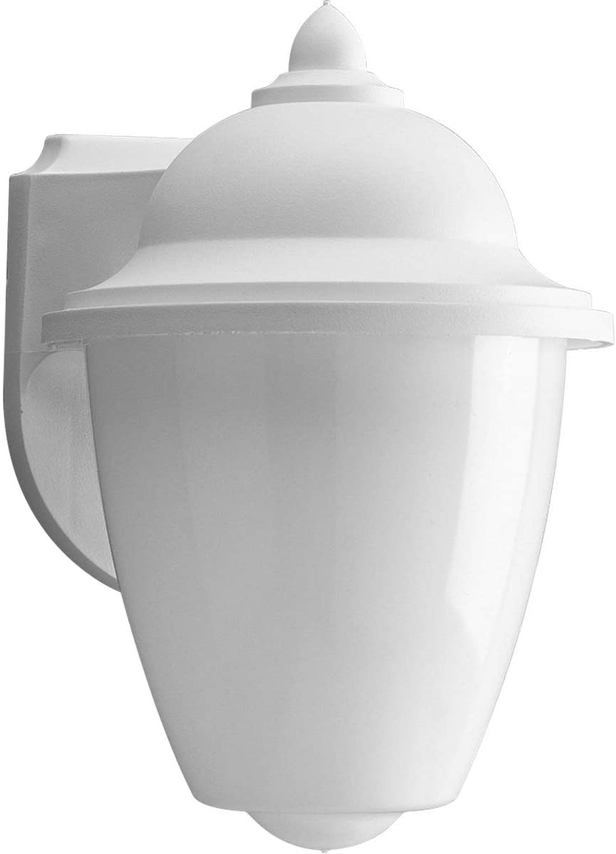 Progress Lighting P5844-30 Transitional One Light Wall Lantern from Polycarbonate Collection in White Finish, 6-Inch Width x 8-3 4-Inch Height