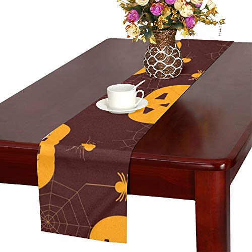 Halloween Silhouettes Spiders Table Runner, Kitchen Dining Table