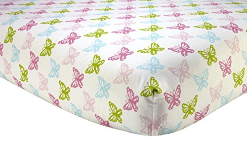 Sadie & Scout Chelsea - Pink Butterfly Crib Sheet