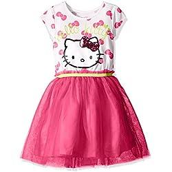 Hello Kitty Girls' Little Embellished Tutu Dress, Fuchsia Purple, 6