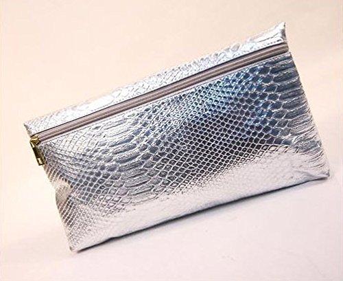 Zarapack - Borsetta senza manici donna (argento)