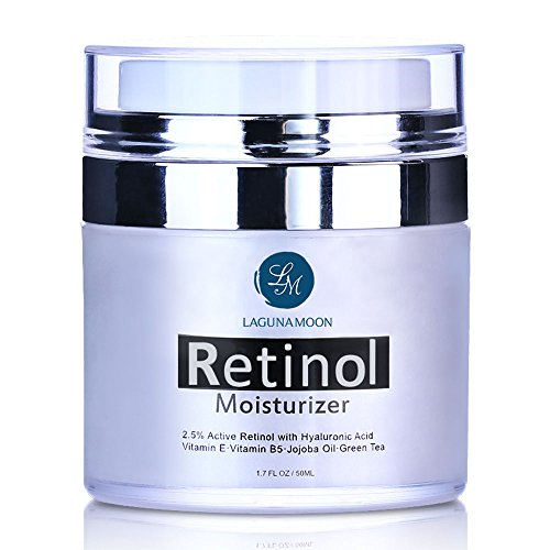 Price comparison product image Retinol Moisturizer Cream for Face and Eye with 2.5% Retinol and Hyaluronic Acid, Vitamin E and Green Tea,Anti Aging Day and Night Cream 1.7 OZ/50ML