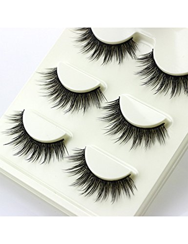 3-Pairs-3D-Soft-Cotton-stems-False-Eyelashes-Natural-Bare-Nude-makeup