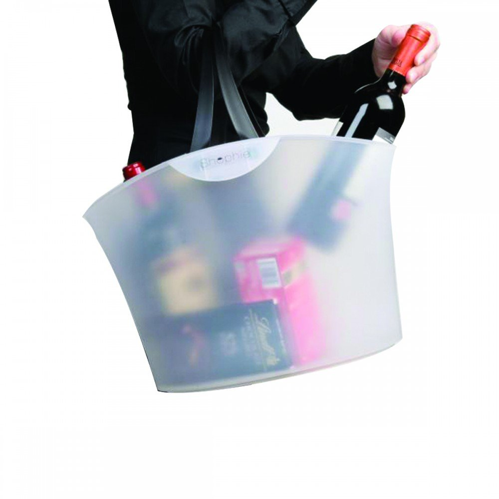 Shopping Basket - Modern - with 2 Handles - for Cosmetic Shops - Boutique Shops - Wine Stores - Gift Shops - Reusable Bag - Pack of 8 - Translucent