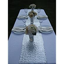 TRLYC Sequin Table Runner, 13 by 60-Inch Sequin Tablecloths, Silver
