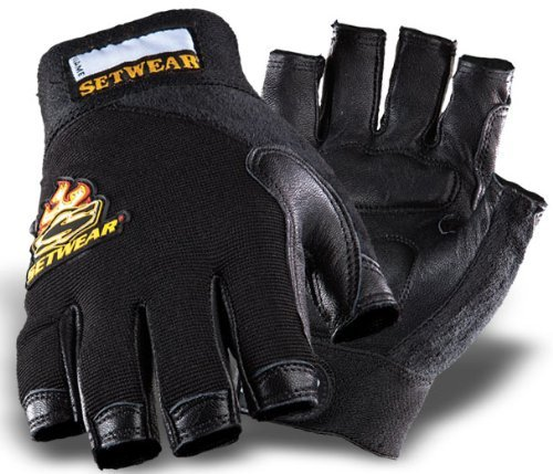 - SetWear Genuine Leather Fingerless Gloves, Pair Large (Size 10) Approximatly 4-4.5