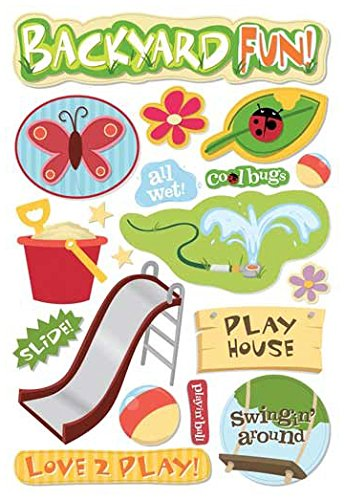 KAREN FOSTER 7069950Karen Foster 5-1/2 Inch by 9 Inch Cardstock Stickers, Backyard (Fun Embellishment)