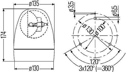 HELLA 2RL 007 337-121 Gyrophare