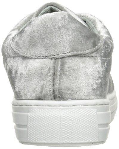 Qupid Womens Reba-161c Fashion Sneaker Grigio Chiaro Velluto Cotta