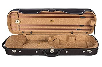 Estuche para violín madera 4/4 Paisley honey M-Case: Amazon ...