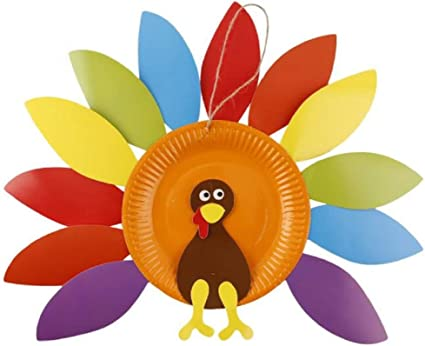 Amazon Com Turkey Craft Kit Thanksgiving Diy Paper Crafts For Kids Decoration Crafts Toys Games