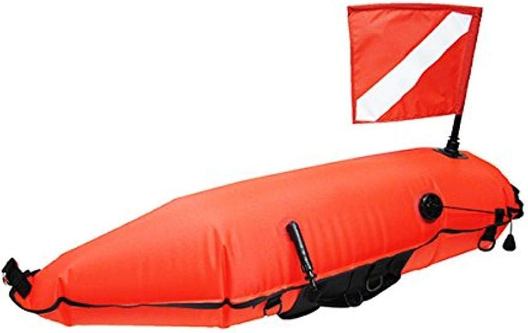Details about  /Nylon Torpedo Float Buoy w// Flag for Spearfishing Diving Scuba Sign Signal