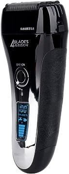 inkint recargables afeitadora eléctrica con pantalla LCD ABS + ...
