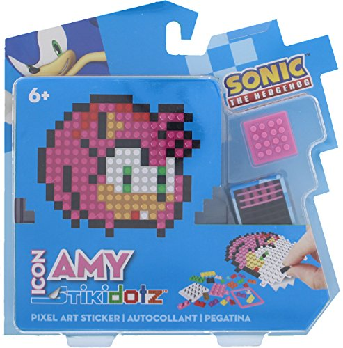 STiKidotz 3D Pixel Art Set with Icon Sonic design Amy by STiKidotz