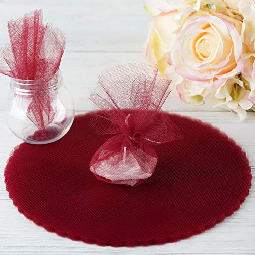 Mikash Tulle Wrappers Circles 9 DIY Crafts Sewing Wedding Party Favors Decorations | Model WDDNGDCRTN - 1391 | 75 pcs