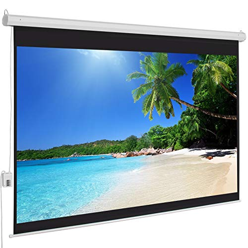 (Best Choice Products Motorized Electric Auto HD Projection Screen, 100-Inch, 4:3 Display)