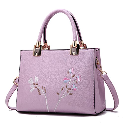 Maturo Bag Purple Tracolla Retro Da Wu A Messenger Borsa Ladies Ricamo Zhi Tqxv4Zwgp