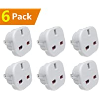 [ Pack of 6 ] UK to US Travel Adaptor suitable for USA, Canada, Mexico, Thailand - Refer to Description for country list