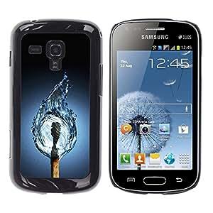 Stuss Case / Funda Carcasa protectora - Water Match Fire Flame Art Drawing Life Elements - Samsung Galaxy S Duos S7562