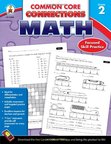 Carson-Dellosa Common Core Connections Math Workbook, Grade 2, Ages 7 - 8, 96 Pages ()