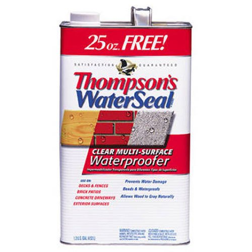 Thompsons Water Seal 24111 1.2-Gallon Clear Low VOC Water Sealer for Exterior Use (Thompson Water Seal On Pressure Treated Wood)
