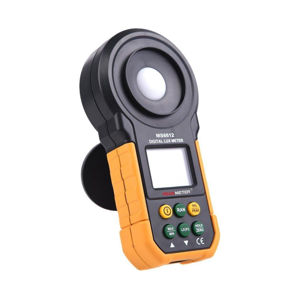 Medidor Lumenmeter Lux//FC metros luminometer con rango de Manual autom/ático Max//Min Data Hold Lux/ómetro 0.01Lux//0.01fc Protmex MS6612 medidor de luz 2000 counts 0-200000 Lux//0-20000 FC