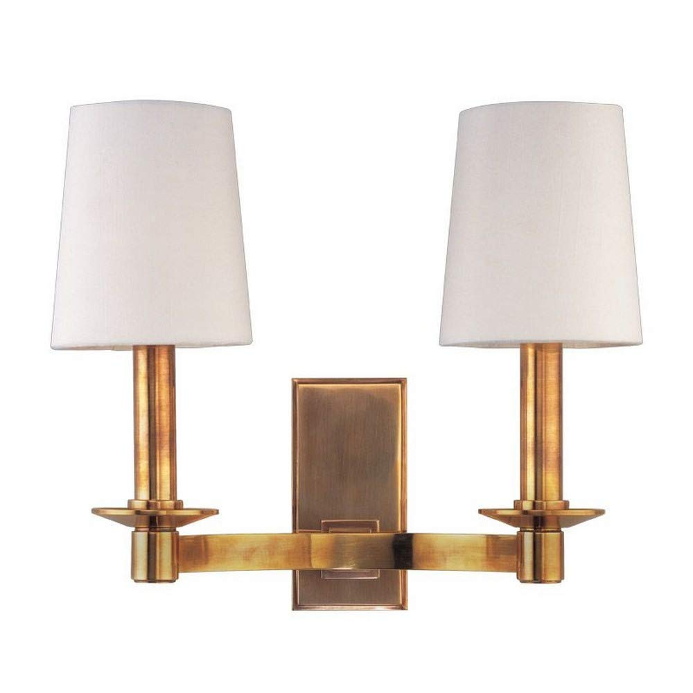 Hudson Valley Lighting 152-AGB Two Light Wall Sconce from the Spencer collection 2, Aged Brass