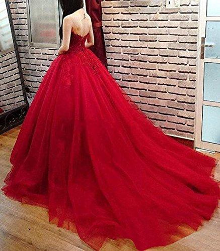Perles Rouges Robe De Mariée Robes De Bal De Mariée Rouge De Fête Des Femmes Dreamdress