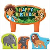 Go Diego Go Birthday Candles - Set of 4