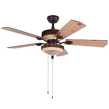 Amazon.com: luxurefan interior moderno ventilador de techo ...