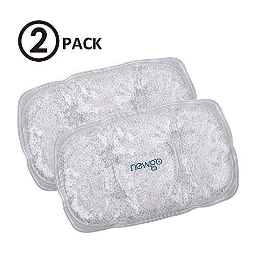 NEWGO®Soft Ice Packs for Injuries with Gel Beads, Reusable Gel Ice Cold Packs, Freezer Peas Ice Packs Cold Compress for Pain Relief(10.4