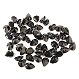 Neerupam collection Black Colour Cubic Zirconia AAA Quality Diamond Cut Pears Shape loose gemstone