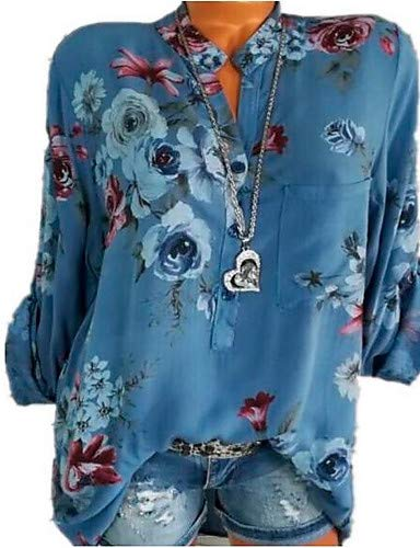 Camicia Blue donna Basic Geometrica da YFLTZ xAwqYRzz