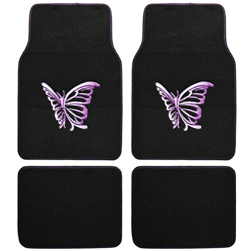 Purple Butterfly Design Carpet Floor product image