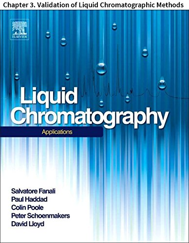 Monolith Water (Liquid Chromatography: Chapter 3. Validation of Liquid Chromatographic Methods)