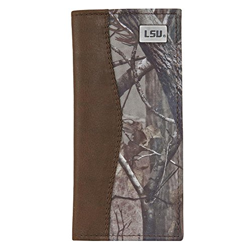 LSU Leather / Camo Secretary Wallet by Eagles Wings