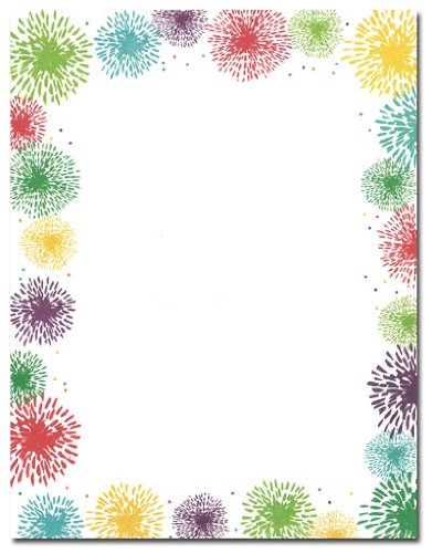 FIREWORKS STATIONERY PAPER - 40 Count