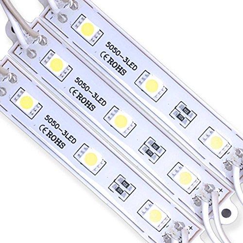 Módulo com 3 leds 5050 - Branco Quente - 60 lúmens - IP65-12 volts (unitário) - LMS-MDL3L-5050-BQ