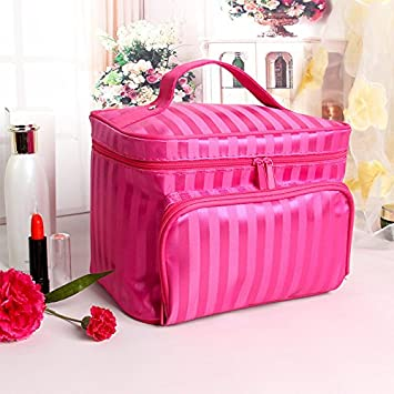 Cutogain Grande bo/îte /à maquillage Bijoux Sac de rangement Vanity Beaut/é Trousse de toilette /à nourriture 9