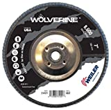 "Weiler 31421 7"" Wolverine Abrasive Flap Disc, Flat"