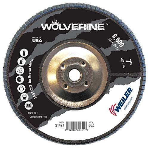 (Weiler Vortec Pro Abrasive Flap Disc, Type 27, Threaded Hole, Phenolic Backing, Zirconia Alumina, 7