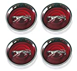 Mustang Wheel Cap Magnum 500 Mercury Cougar with Silver Cat Set of 4 1967 - 1977 Red