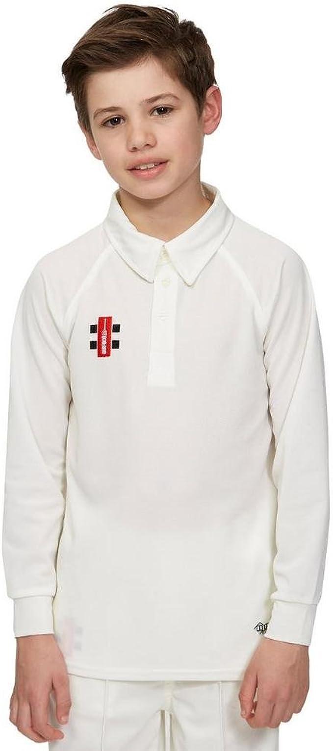 Gray-Nicolls Cricket Kids Matrix Long Sleeve Shirt