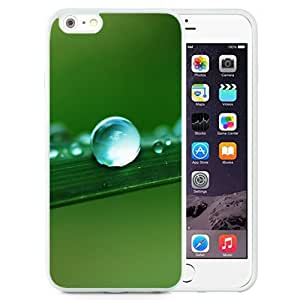 Fashionable Custom Designed iPhone 6 Plus 5.5 Inch Phone Case With Water Drop Macro Leaf_White Phone Case