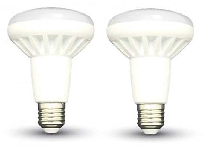 LED R80 reflector bombillas – 2 unidades – E27/rosca Edison – 10 W,