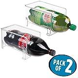 mDesign Large Stackable Kitchen Bin Storage Organizer Rack for...