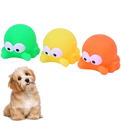 Pet Supplies Igreli Puppy Dog Toys Chewing Squeaky Toy For With Sound Squeaker Ball Face Fetch 3 Pcs Set Com