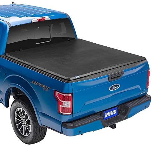 Fits 2004-2019 Ford F-150 5.5 Feet Black Series Premium Soft Trifold Tonneau Pickup Truck Box Cover 66.0 Inches // 1.7 Metres Bed Box Size - Non-Flareside Models