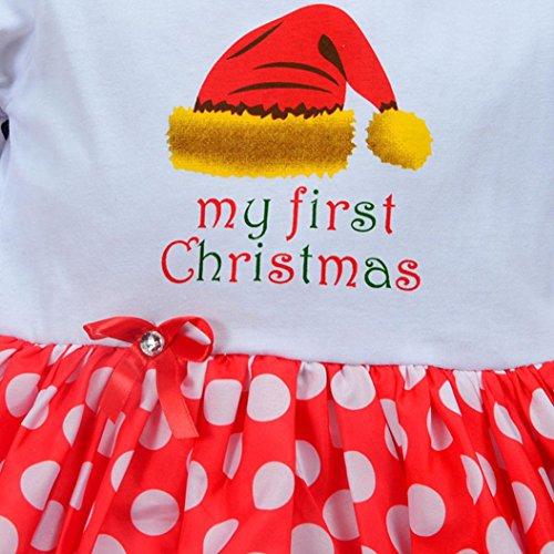 KOLY Neonato 2pcs Set Vestito del tutu del bambino della + vestiti di  Natale pullover della fascia di modo sveglio dei vestiti costume vestito  Neonato ... 70249d7233f